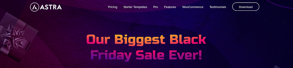 Astra themes black Friday deal