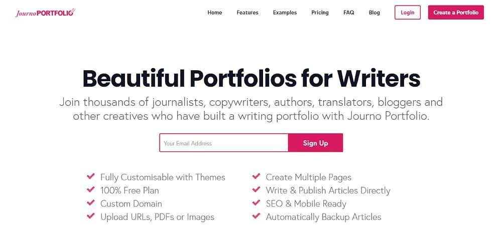 create an online portfolio free