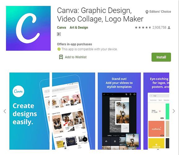 canva mobile app download