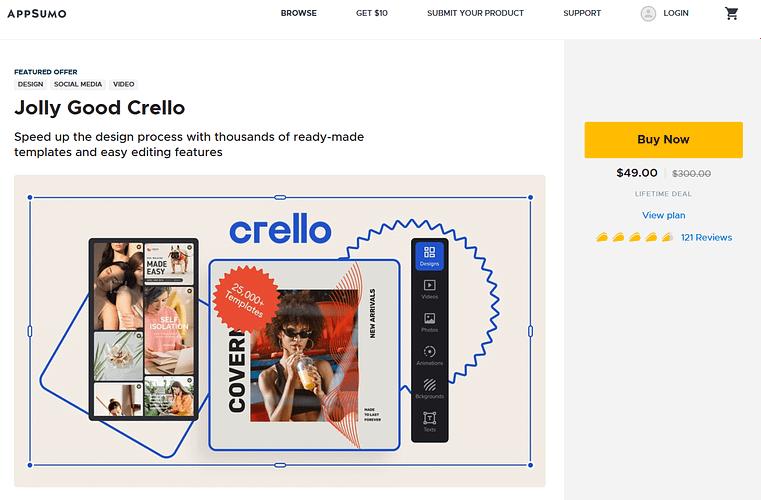 Crello Lifetime Deal