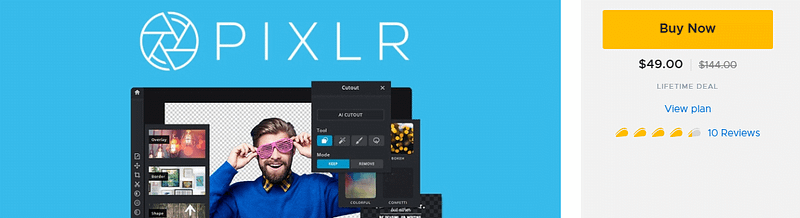 Pixlr Lifetime Deal