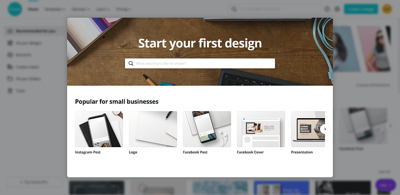Start Your First Design