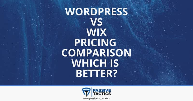 WordPress VS Wix Pricing comparison which is better-