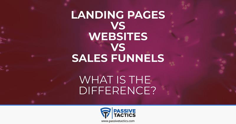 landing page vs sales funnel