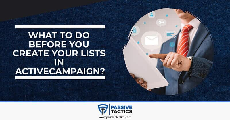 how to create a list in activecampaign