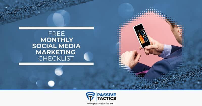 Free Monthly Social Media Marketing Checklist