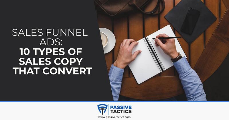 sales funnel ads copy