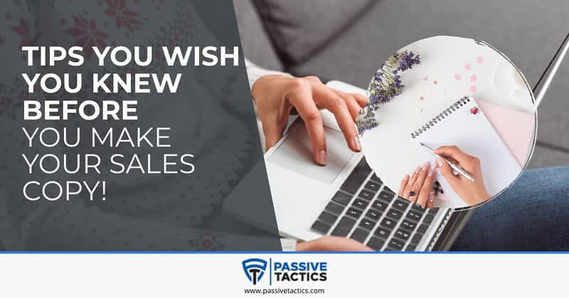 sales copy tips for funnel