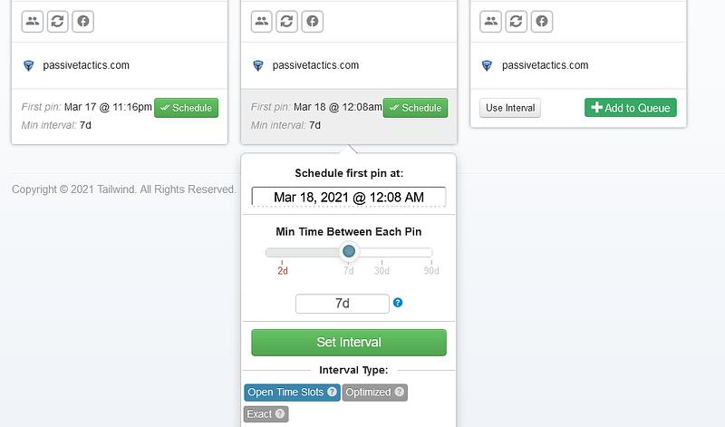 schedule pins