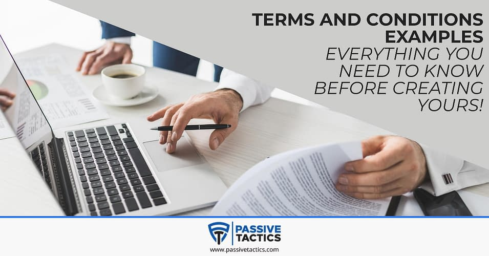 Terms and Conditions Examples