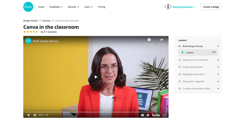 Canva for the Classroom online course