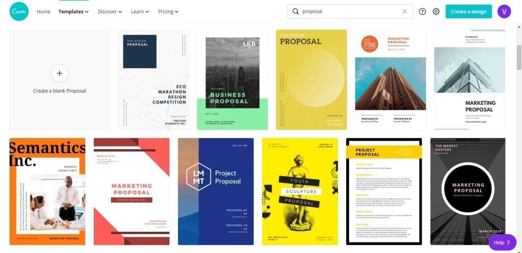 Canva for Work Proposal Templates